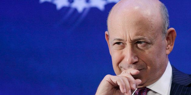 FILE - In this Monday, Sept. 24, 2012, file photo, Lloyd Blankfein, Chairman and CEO of Goldman Sachs, attends the Clinton Gl