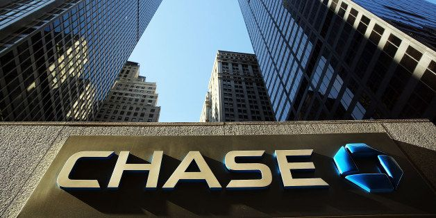 NEW YORK, NY - OCTOBER 14:  A sign hangs on One Chase Plaza in lower Manhattan on October 14, 2014 in New York City. JPMorgan