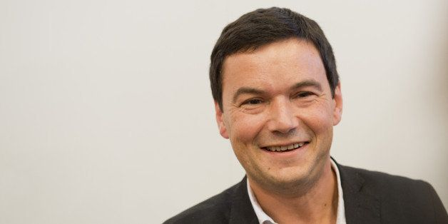 Frankfurt, Germany -  October 09: Economist Thomas Piketty attends Frankfurt Book Fair 2014 on October 09, 2014 in Frankfurt,