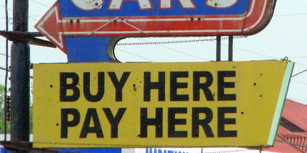 Buy Here Pay Here  Neon sign seen along highway US31W just south of Fort Knox