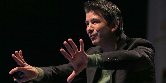 BOSTON - OCTOBER 29: Travis Kalanick, Co-Founder and CEO of Uber Technologies, Inc. speaking at tonight's 2014 MassChallenge