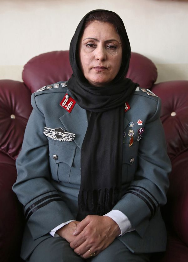 A mother-of-five isn't who you'd imagine as law enforcement in Afghanistan. Earlier this year, Bayaz became the first woman t