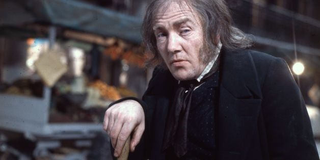 16th January 1970:  British actor Albert Finney plays Ebenezer Scrooge in Ronald Neame's Dickensian musical 'Scrooge'.  (Phot