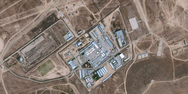 SALT PIT, CIA PRISON, KABUL, AFGHANISTAN - SEPTEMBER 1, 2014  --  DigitalGlobe satellite imagery of a the Salt Pit outside of
