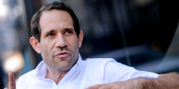 Dov Charney, chairman and chief executive officer of American Apparel Inc., speaks during an interview outside a company reta