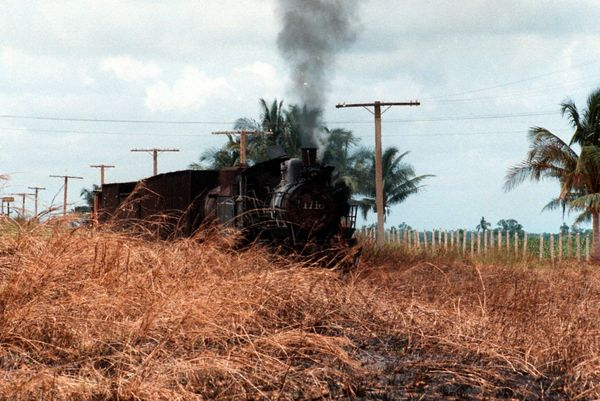 1997 - A steam train outside Havana.