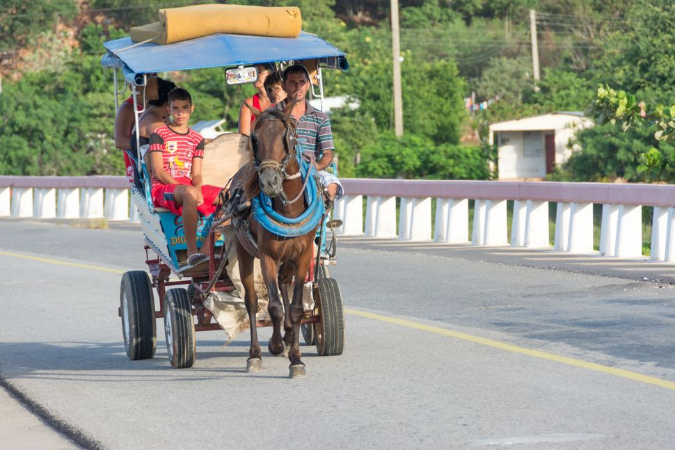2014 - Horse drawn carriage continues to be a regular form of transportation in Cuba.