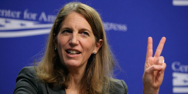 WASHINGTON, DC - NOVEMBER 10:  U.S. Health and Human Services Secretary Sylvia Matthews Burwell talks about the upcoming heal