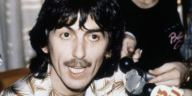 """George Harrison former member of the """"Beatles"""" group at news conference in Los Angeles  March 1979. (AP Photo/George Bric"""