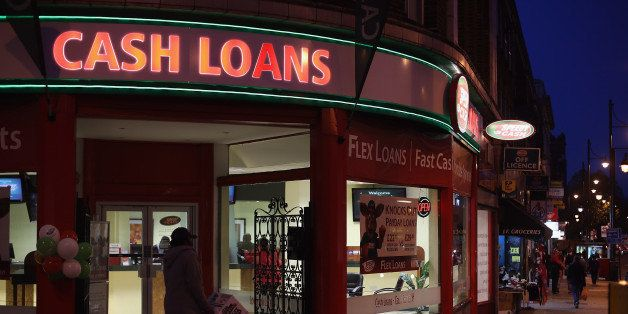 LONDON, ENGLAND - NOVEMBER 01:  A general view of a 'Speedy Cash' cash loans shop on Brixton High Street on November 1, 2012