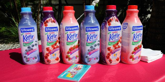 MIAMI BEACH, FL - FEBRUARY 23:  Lifeway Kefir on display at YogArt Presents Buddhas and Bellinis during the Food Network Sout
