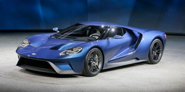 The new Ford GT is unveiled at the North American International Auto Show, Monday, Jan. 12, 2015 in Detroit. (AP Photo/Carlos