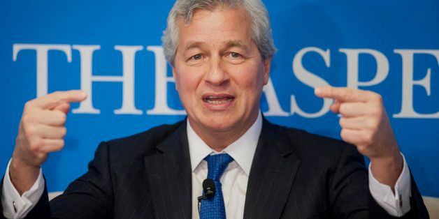 Jamie Dimon, chairman, president and chief executive officer of JPMorgan Chase & Co., speaks during an Aspen Institute event