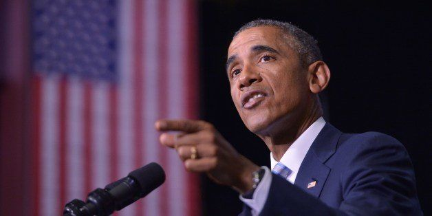 US President Barack Obama speaks about the attacks in France, saying 'the United States stands with you' at Pellissippi State