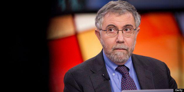 Nobel Prize-winning Economist Paul Krugman, professor of international trade and economics at Princeton University, pauses du