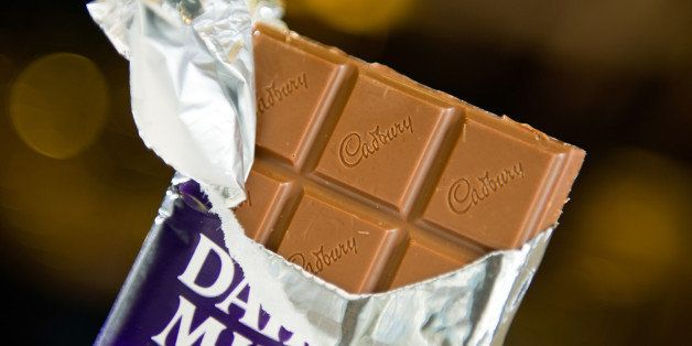 A Kraft Foods Inc. Cadbury chocolate bar is arranged for a photograph in San Francisco, California, U.S., on Thursday, Aug. 4