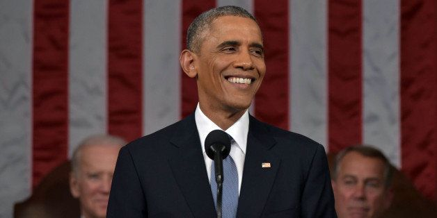 President Barack Obama delivers the State of the Union address on Tuesday, Jan. 20, 2015, on Capitol Hill in Washington. (AP