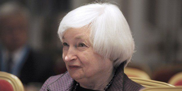 US Federal Reserve Chair Janet Yellen attends an International Symposium of the Bank de France, 'Central Banking: The way for