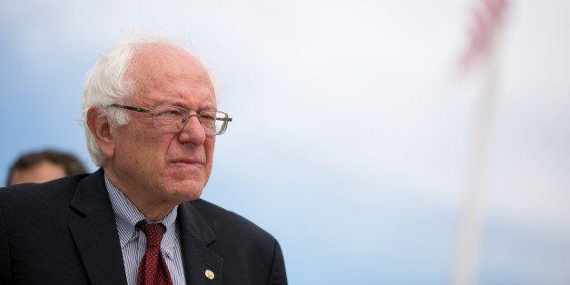 WASHINGTON, DC - OCTOBER 8:  Sen. Bernie Sanders (I-VT) is seen outside the Supreme Court in Washington, on October 8, 2013 i
