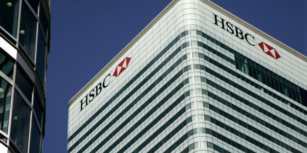 The building of HSBC headquarter is seen at Canary Wharf in London, Friday, Sept. 26, 2008. About 500 UK jobs are being axed