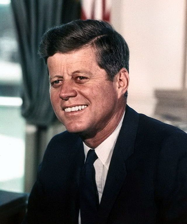 > Net worth: $1 billion (never inherited his father's fortune) > In office: 1961 to 1963 > 35th president   John F. Kennedy w