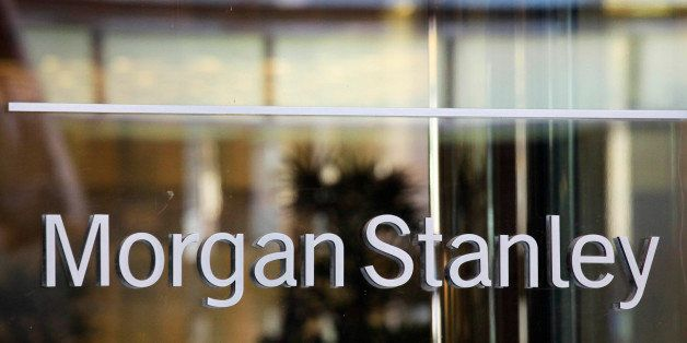 The Morgan Stanley logo is shown on its Times Square building, Tuesday, Oct. 18, 2011 in New York. Morgan Stanley said Wednes