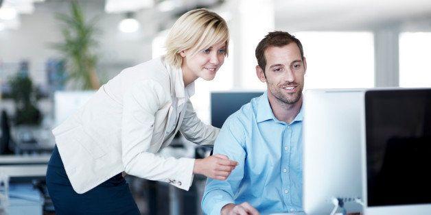 Woman teaching her employee