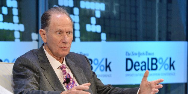 NEW YORK, NY - NOVEMBER 12:  Founding partner at TPG Capital David Bonderman participates in a discussion at the New York Tim