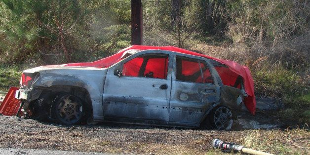 This March 6, 2012 photo provided by the law offices of Butler, Wooten & Fryhofer, LLP shows the scene of a crash in Bain
