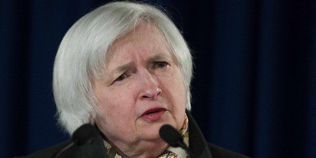 Federal Reserve Chair Janet Yellen speaks during a press conference at the Federal Reserve in Washington, DC, March 18, 2015,