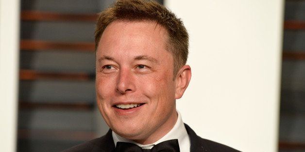 BEVERLY HILLS, CA - FEBRUARY 22:  CEO of Tesla and Space X Elon Musk attends the 2015 Vanity Fair Oscar Party hosted by Grayd