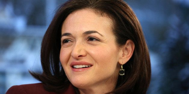 Sheryl Sandberg, billionaire and chief operating officer of Facebook Inc., listens during a panel session on day four of the