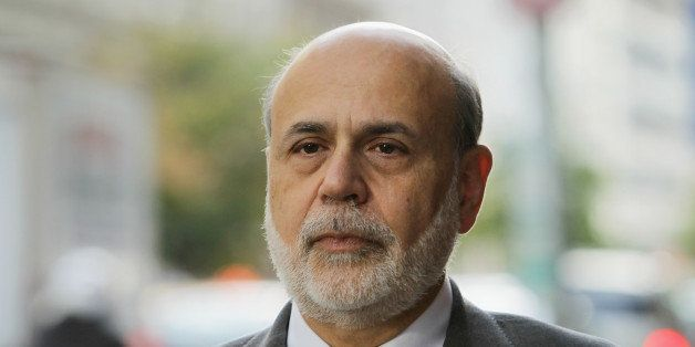 WASHINGTON, DC - OCTOBER 09:  Former Chairman of the Federal Reserve Ben Bernanke arrives at U.S. Court of Federal Claims to