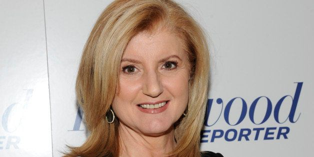 In this photograph taken by AP Images for The Hollywood Reporter Arianna Huffington arrives at The Hollywood Reporter 35 Most
