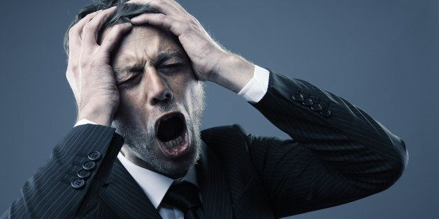 a screaming worried  depressed  ...