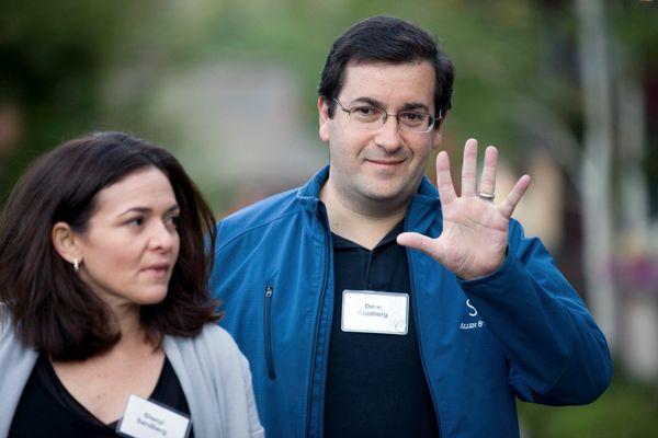David Goldberg, chief executive officer of SurveyMonkey.com LLC, arrives for morning sessions at the 28th annual Allen & Co.