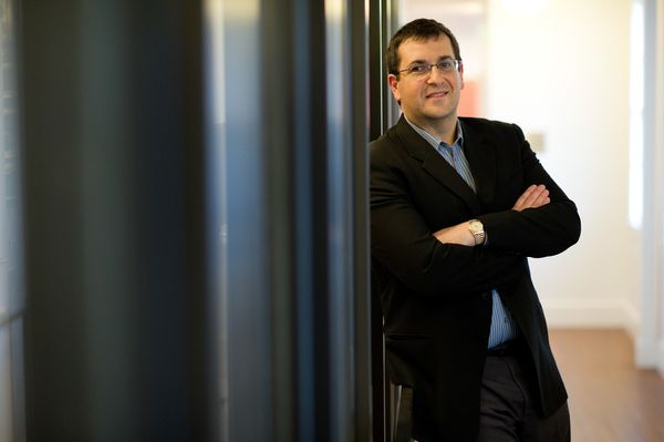 David Goldberg, chief executive officer of SurveyMonkey, stands for a photograph after a Bloomberg via Getty Images West tele
