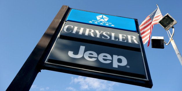 HOLLYWOOD, FL - DECEMBER 03:  A sign stands at the Hollywood Chrysler Jeep dealership on December 3, 2013 in Hollywood, Flori