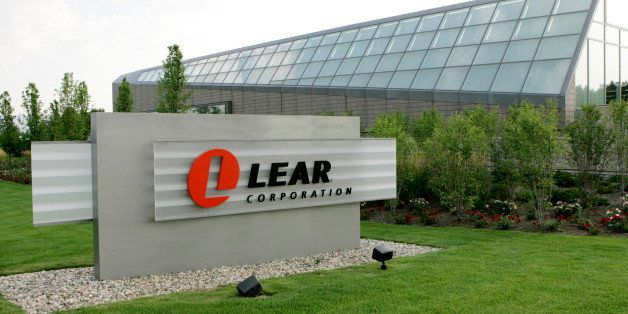 FILE - In this July 31, 2007 file photo, a Lear Corporation sign is shown outside the company's headquarters in Southfield, M