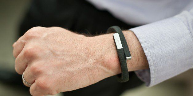 A man wears an UP fitness wristband in Washington on July 16, 2013. Jawbone, the San Francisco-based company behind 'smart' w