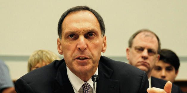 Richard S. Fuld Jr., chief executive officer of Lehman Brothers, testifies before the US House Oversight and Government Refor