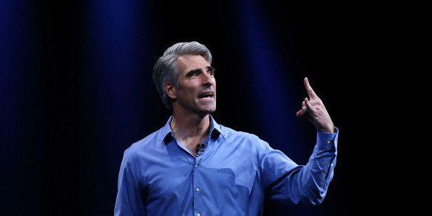 SAN FRANCISCO, CA - JUNE 08:  Apple Craig Federighi, Apple senior vice president of Software Engineering, speaks during Apple