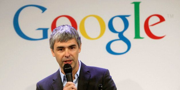 FILE- In this Monday, May 21, 2012, file photo, Google CEO Larry Page speaks at a news conference at the Google offices in Ne