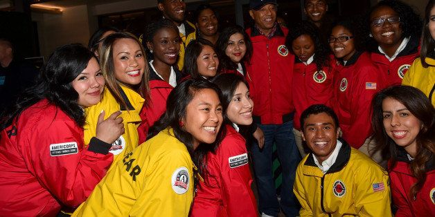 LOS ANGELES, CA - APRIL 25:  City Year AmeriCorps members attend City Year Los Angeles Spring Break at Sony Studios on April