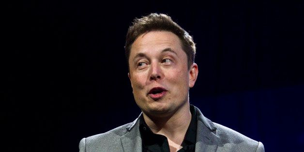 Elon Musk, CEO of Tesla Motors Inc., unveils the company's newest products, Powerwall and Powerpack in Hawthorne, Calif., T