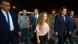 Les premières déclarations d'Ahed Tamimi à son arrivée en Tunisie
