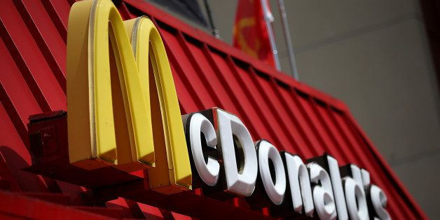 SAN FRANCISCO, CA - APRIL 22:  A sign is posted on the exterior of a McDonald's restaurant on April 22, 2015 in San Francisco