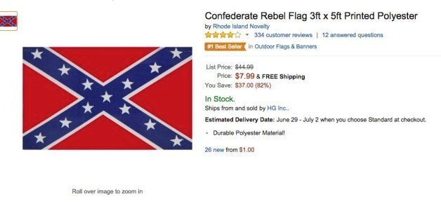 Amazon Bans Confederate Flag Merchandise Reports Huffpost