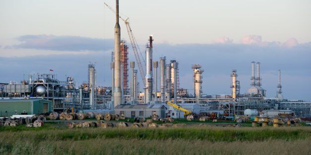 Photo taken August 20, 2013 shows the Hess Gas Plant in Tioga, North Dakota, a facility that is currently being expanded. For