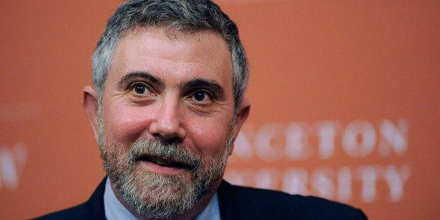 PRINCETON, NJ - OCTOBER 13:  Princeton Professor and New York Times columnist Paul Krugman smiles during a press conference t
